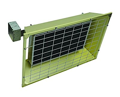 Fostoria FSS43243 FES Series Heavy Duty Flat Panel Emitter Electric Overhead Infrared Heater, 4.30KW, 17.91 Amp