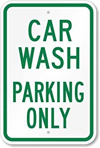 USD20 Amazon Gift Card Wedding Registry : Amazon.com: Car Wash Parking Only Sign, 18