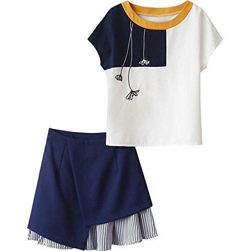 MiGMV?Robes Une Jupe Courte de Deux Costumes et des Jupes Courtes,XL,Couleur de l'image