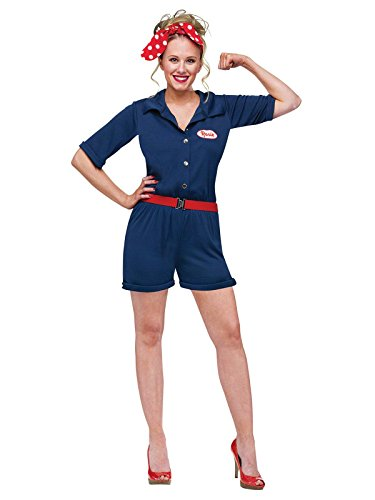 Rosie the Riveter Costume - Medium/Large - Dress Size 10-14