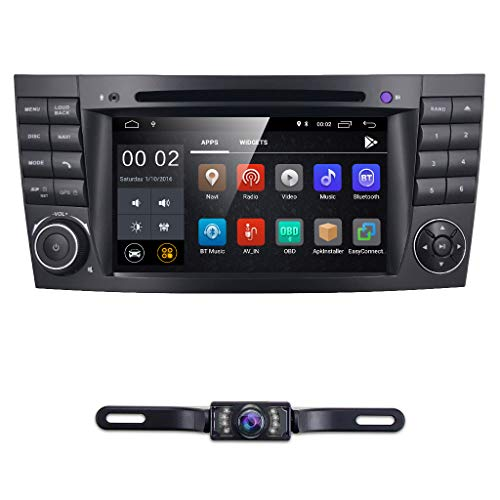 hizpo 7 Inch Android 8.1 Car Stereo Radio DVD Player GPS Can-Bus Mirrorlink Bluetooth OBD2 Multi Touch Screen for Mercedes-Benz E-Class W211 CLS W219 G-Class W463 CLS 350 CLS 500 CLS 55