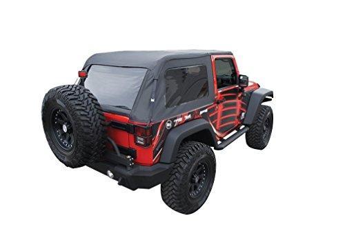 Amazon.com: Rampage Products 109935 Black Frameless Soft Top Kit With  Tinted Windows For Jeep Wrangler JK 2 Door: Automotive
