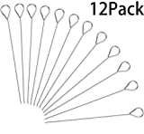 HONSHEN Turkey Lacers for Trussing Turkey, 6 inches Stainless Steel,Set of 12