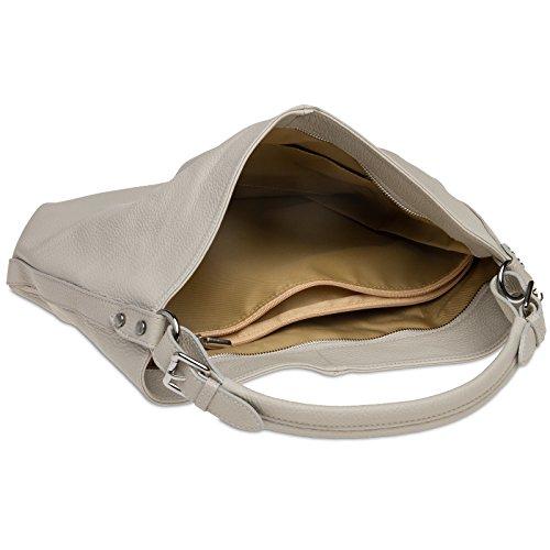 Caspar shopper Sac Gris pour grand femme en TL785 cuir Clair sac wTwpArq