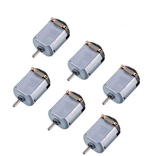 X-group 6 Pack DC 1.5-6V 15000-16500RPM Mini Electric Motor for DIY Toys, Science Experiments