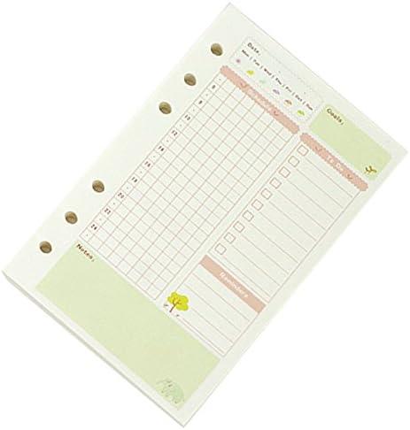 RETYLY A5 Niedliche Bunte Tagebuch Minen Spiralblock Ersetzen Farbe Kern Lose Blatt Briefpapier Geschenk Schule Planer Ringbuch Papier Paper Daily Plan)