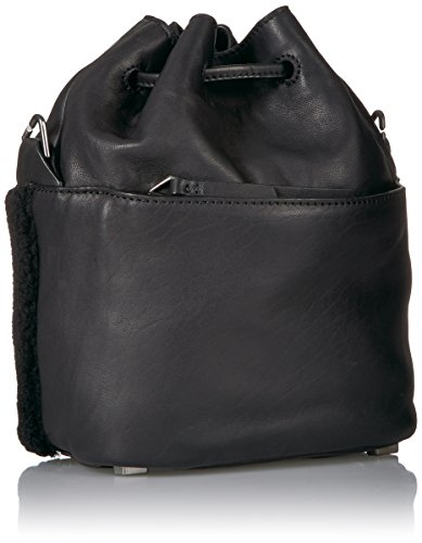 Lambskin Bag Berlin Liebeskind Black Missisippi Oil and Shearling Women's Bucket SFXqa