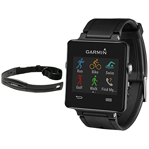 Garmin Vivoactive GPS-Enabled Fitness Smartwatch Black (010-01297-00) with Heart Rate Monitor by Garmin