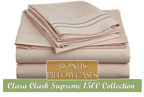 Clara Clark Supreme 1500 Collection 6 Piece Bed Sheet Set, I