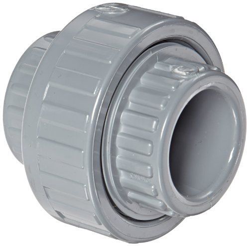 Spears 857-C Series CPVC Pipe Fitting, Union with Viton O-Ring, Schedule 80, 1