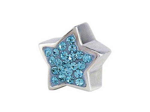 SilveRado Bling Star Bling Blue Bead/Charm