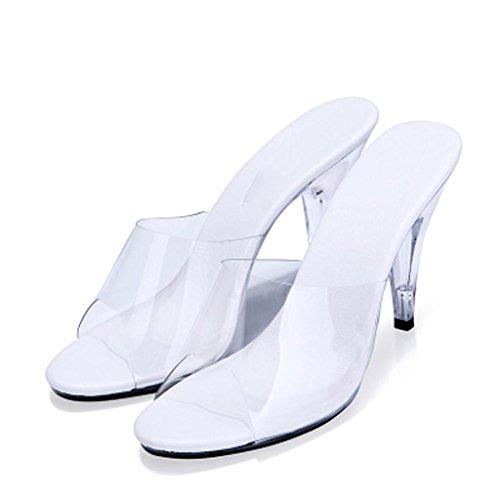 Juhlasali Kengät 10 Valkoinen Sandaalit Kristalli Tossut Cm Päällään Korkokengät Työpaikalla Läpinäkyvä Naisten Ulkona TzZwxFPdqq