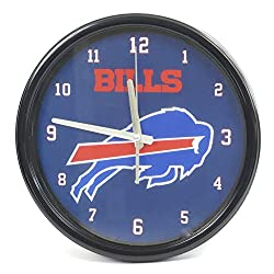 Buffalo Bills Large Wall Clock. Ideal for Family Room, Man cave or Office Decor. Wonderful Gift for dad on Father's Day.