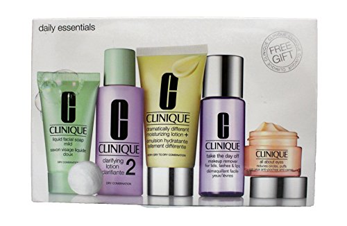 Daily Essentials Set – Dry Combination Skin by Clinique for Unisex – 5 Pc Set