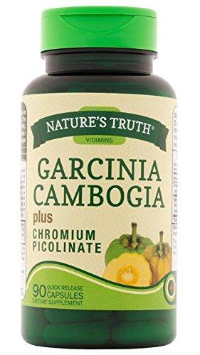 Nature's Truth Garcinia Cambogia 800 mg with Chromium Picolinate Supplement, 90 Count