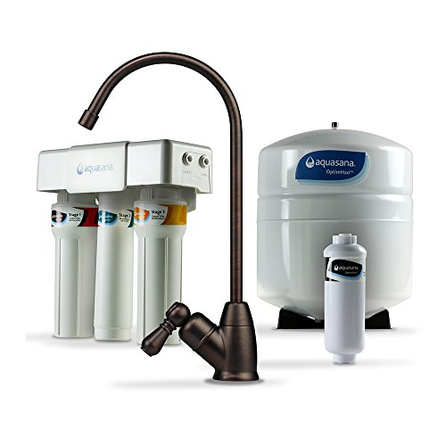 Aquasana OptimH2O Reverse Osmosis Water Filter with Remineralizer and Oil-Rubbed Bronze Faucet by Aquasana