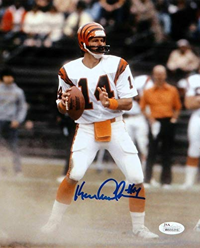 Ken Anderson Signed Photo - 8x10 Vertical About To Pass W - JSA Certified - Autographed NFL Photos