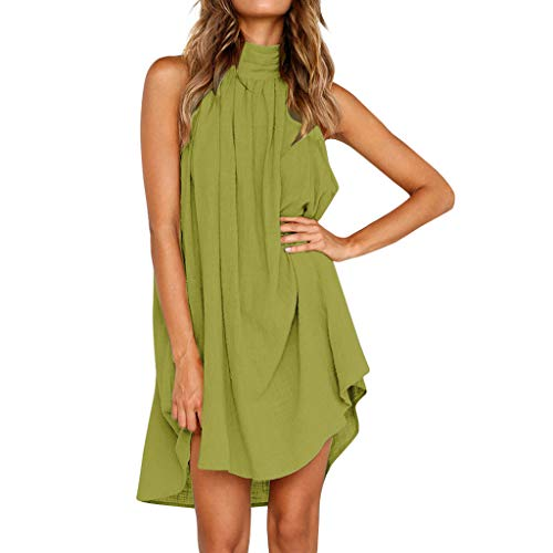 Womens Holiday Irregular Dress Ladies Summer Beach Sleeveless Party Dress