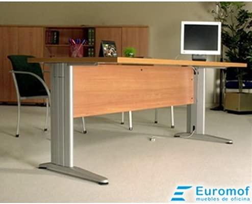 Mesa de Oficina. Euro 3000. Color Haya. 140x80 cm. Patas en T de ...