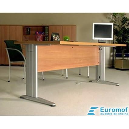Mesa de Oficina. Euro 3000. Color Haya. 180x80 cm. Patas en T de ...