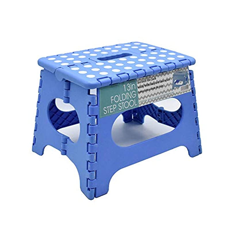 WEIFU 발판 스텝 접이식 스텝대 접이식 체어 내하중150kg 수납 운반 편리 미끄럼방지 어른/아이 겸용(흰색)
