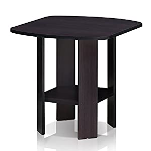 Furinno 11180DWN Simple Design End/SideTable 1 Table, Dark Walnut