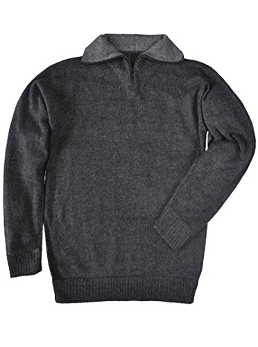 Alpaca Sweater Turtleneck - Gamboa Zippered Turtleneck Alpaca Sweater (X-Large, Charcoal)