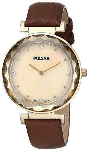 (Pulsar Women's PM2082 Night Out Analog Display Japanese Quartz Brown Watch)