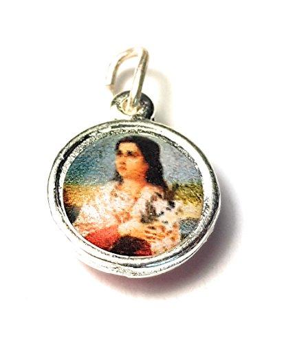 - Relic Medal 3rd class of Saint Maria Goretti patron of Victims of rape, Crime victims, teenage girls, modern youth Santa María Goretti