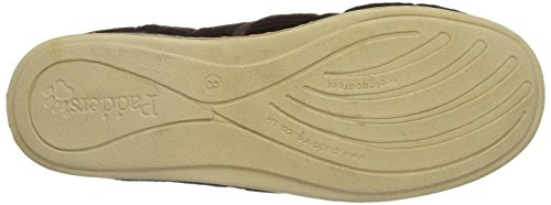 Padders Chaussons Chaud Doublé Mules Albert Marron Brown Homme 55Wqrg