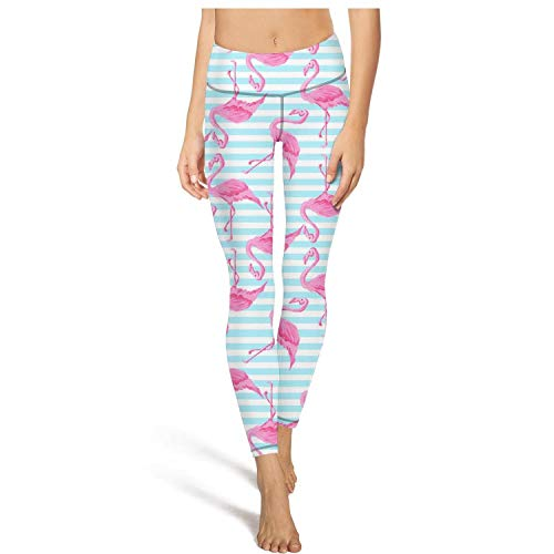 LUWI Women's Flamingos Printed Yoga Capris Leggings Workout