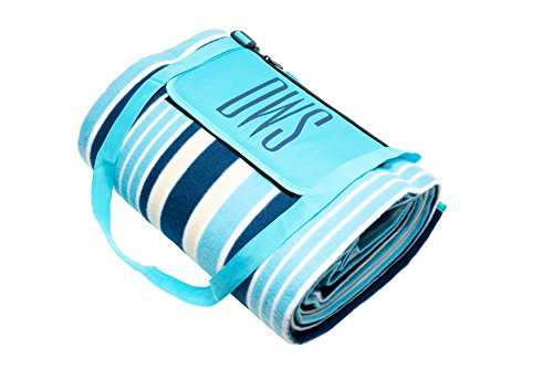 DWS Extra Soft Outdoor Beach Blanket, with Pocket, Waterproof and Thermoinsulaiting Camping Mat 78 ? 59