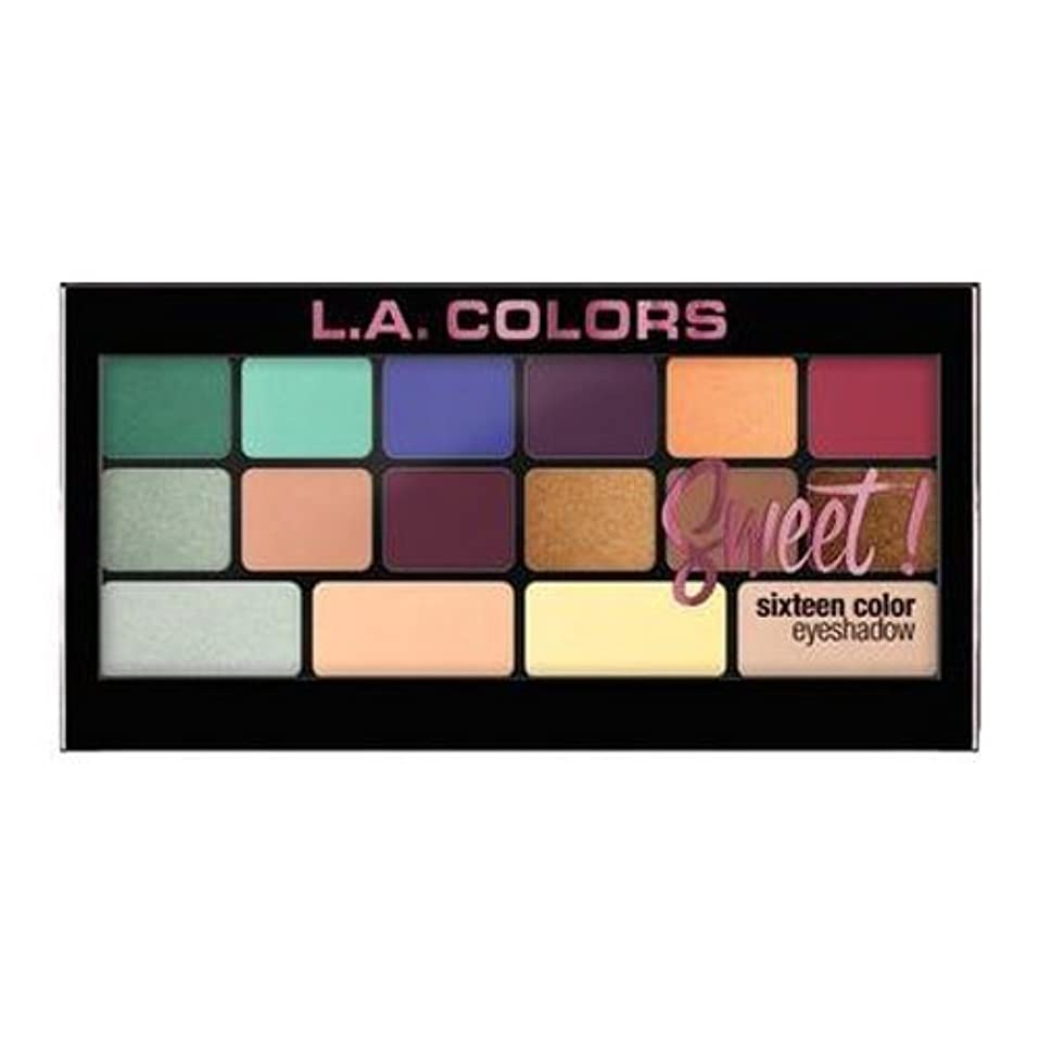 晩餐ポータルビーズ(6 Pack) L.A. Colors Sweet! 16 Color Eyeshadow Palette - Playful (並行輸入品)