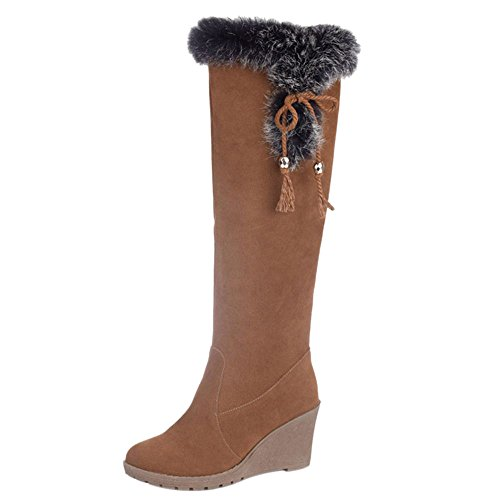 Women On Winter Pull Brown KemeKiss Boots 8Bd1q