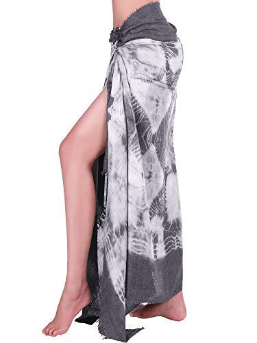 Hestya Women Pareo Swimsuit Beach Swimwear Wrap Gradient Color Bikini Sarong (Multicolor 1) ()
