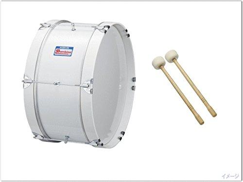 ゼンオン 幼児向け マーチングドラム(バスドラム)白色 PG-1NW(バンビーナ)バチ付き   B00WATJIZM