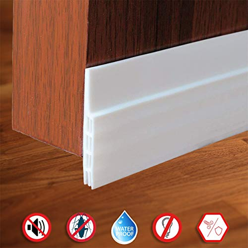 Door Draft Stopper Under Door Seal for Exterior/Interior Doors,Door Sweep Strip Under Door Draft Blocker,Soundproof Door Bottom Weather Stripping(2