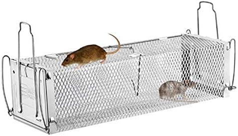 Doble puerta Trampa para ratones - Jaula inteligente Puerta Humana ...