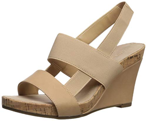 Aerosoles Womens Magnolia Plush Wedge Sandal