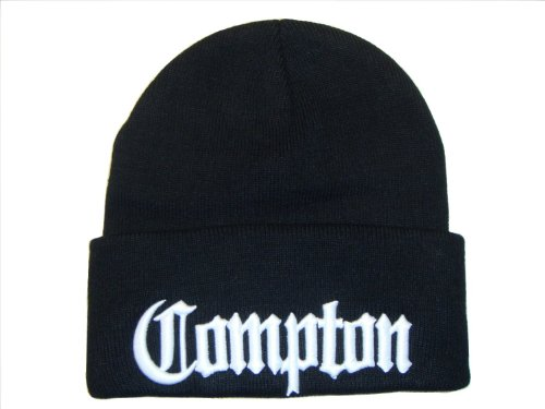 3D Embroidered Compton Eazy E Beanie Cap Hat (One SIze, (Eazy E Compton Hat)