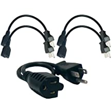 Conntek 05200-5 Extension Power Cable (5-Pack), 1.2-Feet