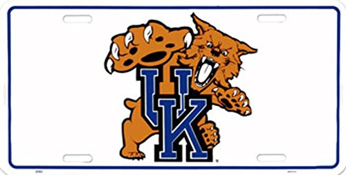 (6x12) University of Kentucky Wildcats NCAA Tin License Plate Kentucky Wildcats Player