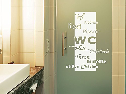 Amazon.de: GRAZDesign 980032_30 Fenstertattoo WC/Toilette/Stilles ...