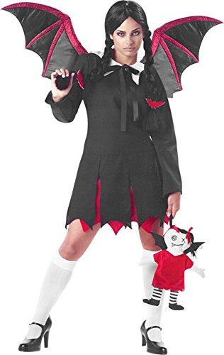 Teen Gothic Bat Girl Costume (Size: 3-5)