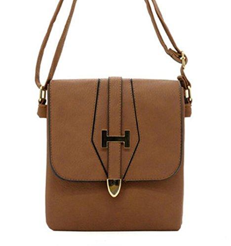 Shopping In Bag All'aperto Marrone Crossbody Morbida Pelle Pinchu Donne Elegante FECqnFI