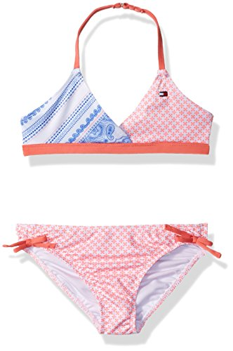 er Girls' Two-Piece Swimsuit, Candy Coral, 3T (Toddler Girls Two Piece)
