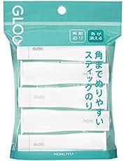 Kokuyo Square Stick Glue (Gloo) S-Size 5 Sticks (Disappearing)