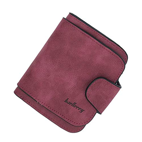Clutch Credit - Laynos Wallet for Women Leather Clutch Purse Small Ladies Credit Card Holder Organizer Travel Purse Wine Red WL8017