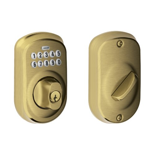 schlage-be365-ply-609-plymouth-keypad-deadbolt-antique-brass