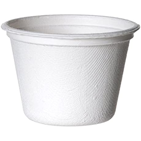 Eco Products Renewable Compostable Portion Cups 4 Oz Sugarcane Portion Cup 36 Packs Of 50 EP SPC4